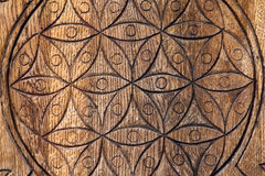 Wooden Flower of Life. royalty free stock photo