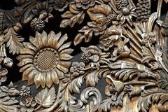 Wooden flower pattern Stock Photography