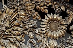 Wooden flower pattern Stock Image