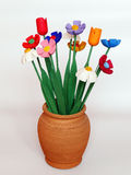 Wooden flowers. Stock Image