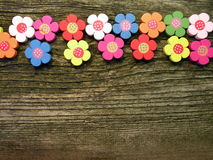 Wooden flowers Stock Images