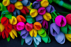 Wooden flowers Royalty Free Stock Images
