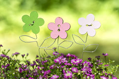 Wooden flowers Royalty Free Stock Photography
