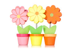 Decorative wooden flowers Stock Images