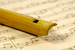 Wooden Flute Royalty Free Stock Photo