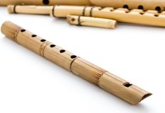 Wooden flutes Stock Image