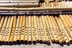 Wooden flutes Royalty Free Stock Images