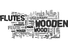 Wooden Flutes Word Cloud. WOODEN FLUTES TEXT WORD CLOUD CONCEPT Royalty Free Stock Photography