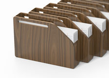 Wooden folders Stock Images