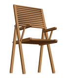 Wooden folding chair. Easily displaced wooden folding chair for picnic or fishing illustration Stock Photos