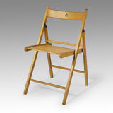 Wooden folding chair Royalty Free Stock Photography