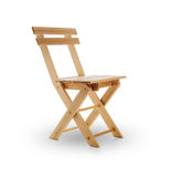 Wooden folding chair Royalty Free Stock Photo