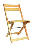 Wooden folding chair isolated Stock Photography