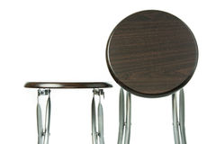 Wooden folding chair isolated Stock Photo