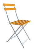 Wooden folding chair isolated over white clipping path. Royalty Free Stock Image