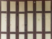 Wooden folding door. Stock Image