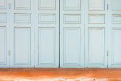 Wooden folding doors Royalty Free Stock Image