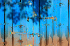 Wooden folding doors Royalty Free Stock Image