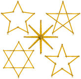 Wooden Folding Ruler Star Shaped - Five items Stock Photo