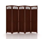 Wooden folding screen isolated Royalty Free Stock Photo
