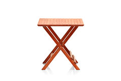 Wooden folding table Royalty Free Stock Photography
