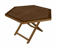 Wooden folding table - 3D render Royalty Free Stock Image