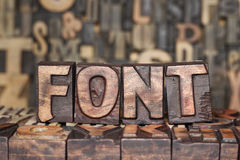 Wooden FONT concept Royalty Free Stock Photo