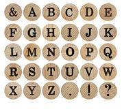 Wooden font Stock Photo