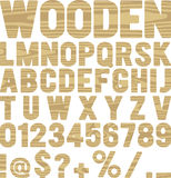 Wooden font Royalty Free Stock Images
