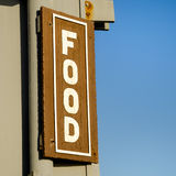 Wooden Food sign Royalty Free Stock Photography