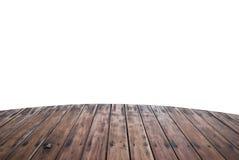 Wooden foot bridge isolated Royalty Free Stock Photo