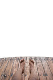 Wooden foot bridge isolated Royalty Free Stock Image