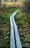 Wooden foot-bridge Royalty Free Stock Photography