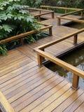 Wooden footbridge Stock Photography