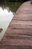 Wooden footbridge Royalty Free Stock Image