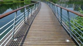 Wooden footbridge Royalty Free Stock Photography