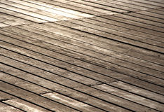 Wooden footbridge, small depth of field Royalty Free Stock Images
