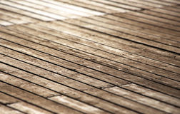 Wooden footbridge, small depth of field Royalty Free Stock Image