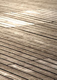Wooden footbridge, small depth of field Royalty Free Stock Photography