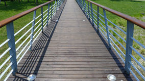 Wooden footbridge Stock Images