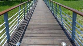 Wooden footbridge Stock Images