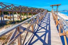Wooden footbridge to Playa del Muro