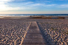 Wooden footpath to the sea Stock Images