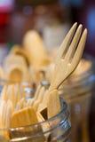 Wooden fork Stock Images