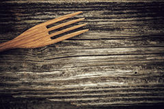 Wooden fork Royalty Free Stock Photo