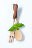 Wooden fork and spoon Stock Photography