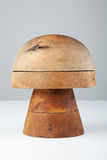 Wooden form for hats Stock Images