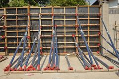 Wooden formwork at constuction site. Stock Photography