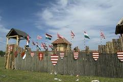 Wooden fort, Bosztorpuszta, Hungary Royalty Free Stock Photography