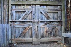 Fort Edmonton Wooden Doors, Alberta, Canada stock images